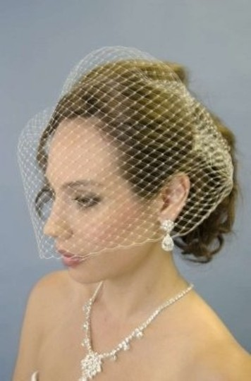 Diamond White Birdcage Tulle Blusher Bridal Veil