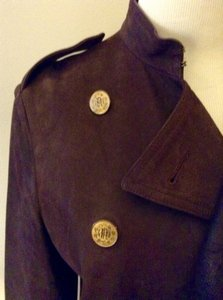 Ralph Lauren Vintage Distressed Leather Coat