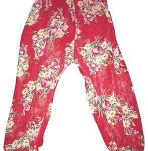 Betsey Johnson Relaxed Pants Red multi