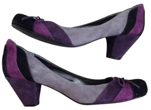 Nine West Black, gray and purple Pumps