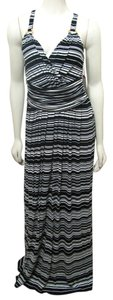 Black White Maxi Dress by Vince Camuto New Vince Maxi Long