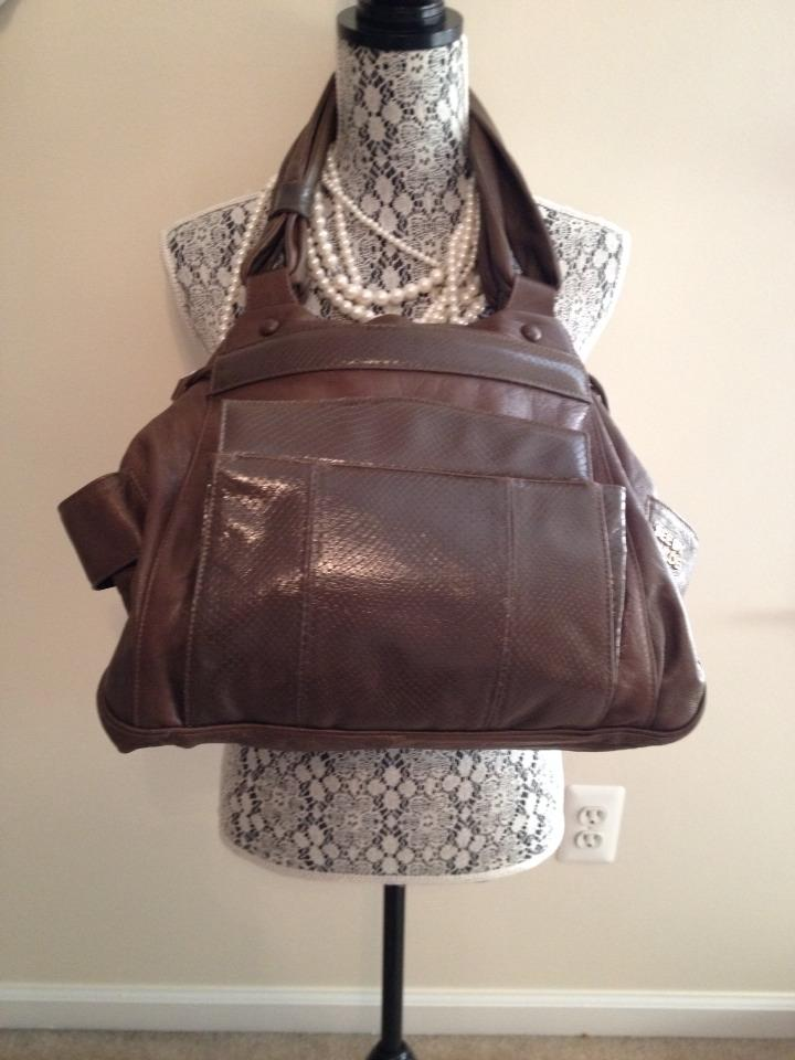 Brownish Olive Spacious See by Chloé Dark Leather Satchel nfnWpUax