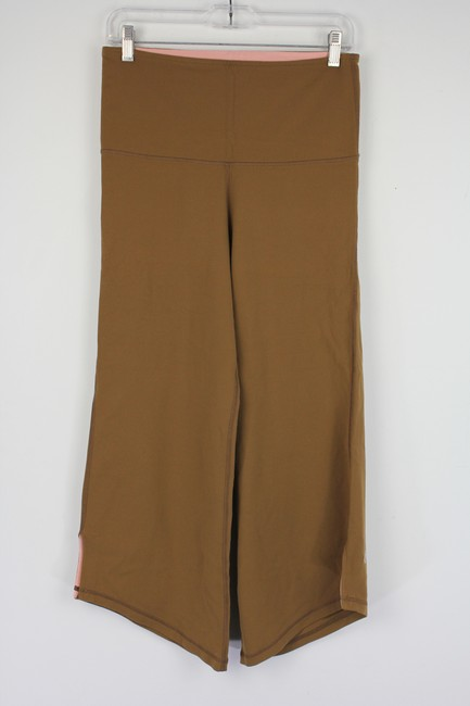 Lululemon Brown Wide Leg Asymmetrical Activewear Bottoms Size 6 (S, 28) Lululemon Brown Wide Leg Asymmetrical Activewear Bottoms Size 6 (S, 28) Image 1