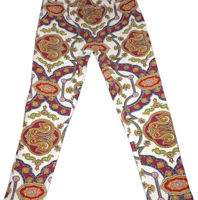 Item - White Paisley Activewear Bottoms Size 4 (S, 27)