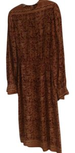 Lillie Rubin Vintage Retro Silk Paisley Dress