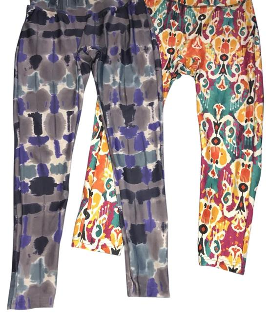 Item - Blue Watercolor and Royal Prints Activewear Bottoms Size 8 (M, 29, 30)