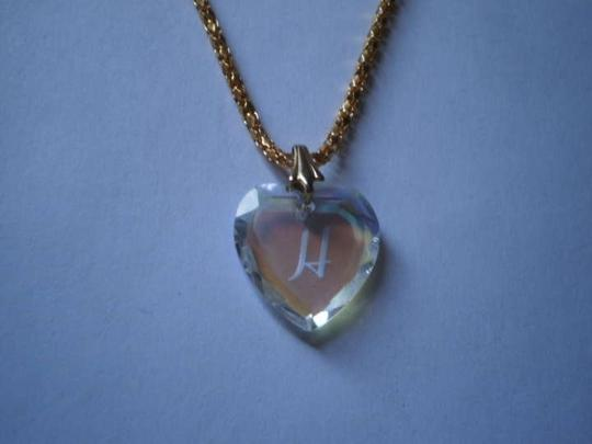 Other Hologram initial 'h' heart necklace