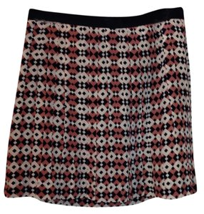 J.Crew Silk Skirt Diamond Print