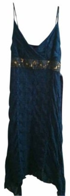 Preload https://img-static.tradesy.com/item/16314/blue-medium-length-gold-accents-above-knee-night-out-dress-size-8-m-0-0-650-650.jpg