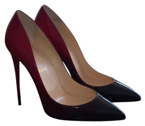 Christian Louboutin Black Red Pumps