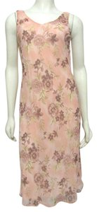 Pink Maxi Dress by Connected Apparel New With Tag Nwt Chiffon Floral Shift 8 S M Sleeveless Strap Long Maxi Connected