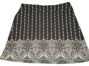 Athleta Mini Skirt Black and white