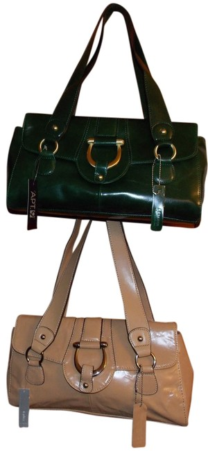 Item - Unknown Green Tan Leather Hobo Bag