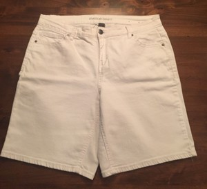 Avenue Denim Size16 Spandex Shorts WHITE