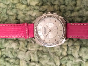 Coach Coach Watch with Pink Leather Band