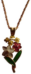 Other Like New Cloisonne Flowers Necklace