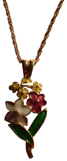 Preload https://item1.tradesy.com/images/like-new-cloisonne-flowers-necklace-163150-0-1.jpg?width=440&height=440
