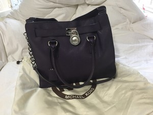 Michael Kors Hamilton Satchel in Royal Purple