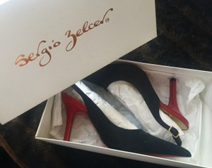Sergio Zelcer Black with Red Bottoms Pumps