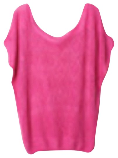 Preload https://img-static.tradesy.com/item/1631531/hot-pink-short-sleeve-knitted-sweater-0-0-540-540.jpg
