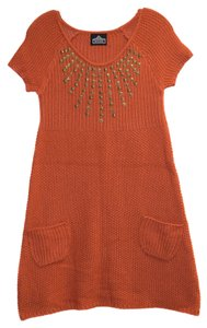 Angie short dress Burnt Orange Studded Sweater on Tradesy