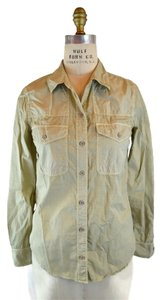 Equipment Safari Casual Button Down Shirt Beige