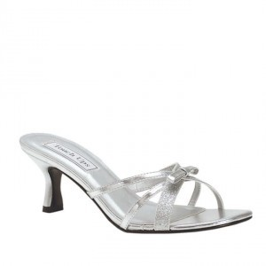 Touch Ups Siver Erin Sandals Size US 8