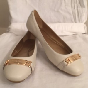 Coach Bianca Leather Slip Ons New (nwt) White (Ivory) Flats