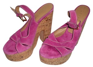 Casadei Hot Pink Platforms