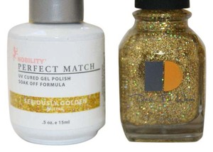 LeChat LeChat Perfect Match Gel color Seriously Golden. With Matching Nail Polish. UV/LED Cured