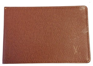 Louis Vuitton #6830 Brown Taiga leather Monogram Credit Business Card