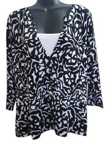 Coldwater Creek Cardigan Twinset New Abstract Sweater
