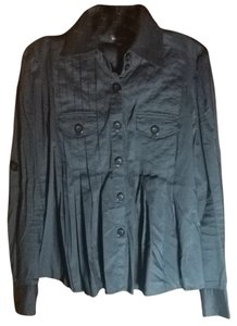 bebe Button Down Shirt Black