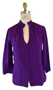 Chloé Silk Top Purple