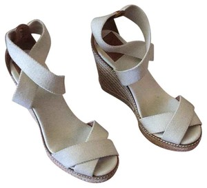 "Tory Burch ""fabian"" Beige Wedges"