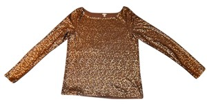 J.Crew Sequinne Sexy Holiday Top Gold
