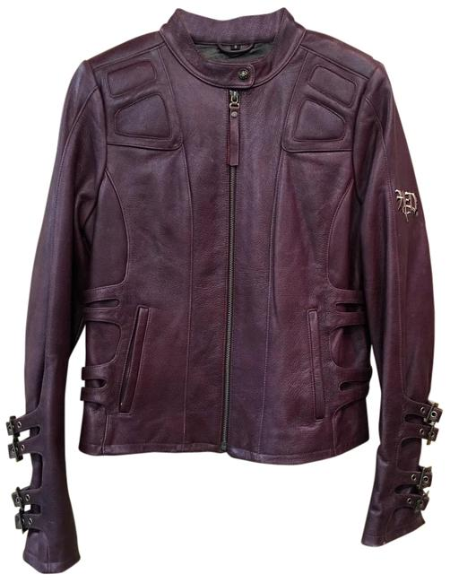 Item - Burgundy Womens Exquisite Leather Jacket Size 4 (S)