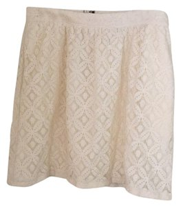 Urban Outfitters Mini Skirt ivory