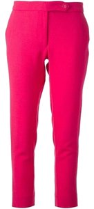 Nordstrom Pink Wool Cropped Capri/Cropped Pants Fuchsia
