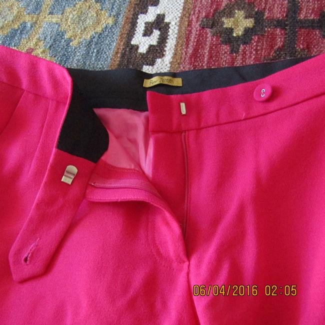 Nordstrom Pink Wool Capri/Cropped Pants Fuchsia