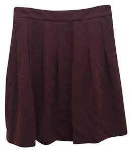 J.Crew Mini Skirt Cabernet