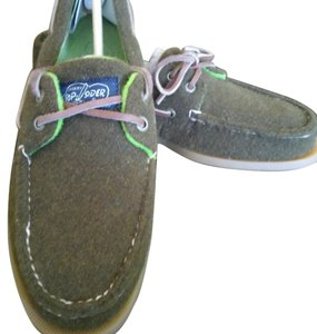 Sperry Men's Dk. Olive green / lime green Flats
