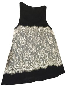 Forever 21 21 Lace White Top black