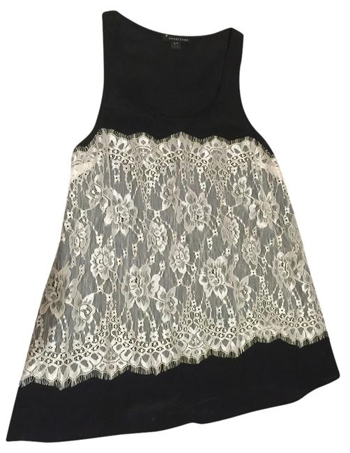 Forever 21 Lace White Top black