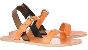 Acne Studios Leather New In Box Orange Sandals