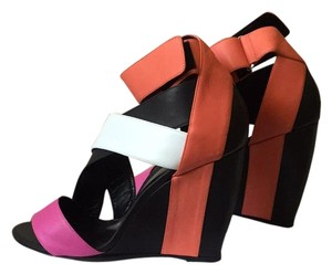 Pierre Hardy Black, pink, white Wedges