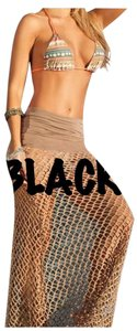 New Black Mesh Maxi Cover Up Skirt Or Dress