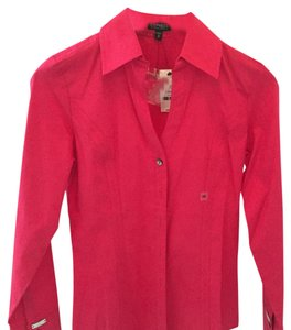 Express Button Down Shirt Hot pink