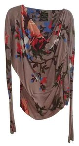Vivienne Westwood Top Taupe with floral print