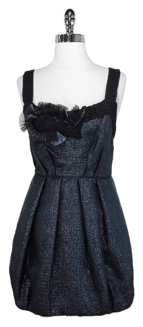 Preload https://item2.tradesy.com/images/bcbgmaxazria-metallic-slate-bcbg-max-azria-silk-and-cotton-short-cocktail-dress-size-6-s-1632206-0-0.jpg?width=400&height=650